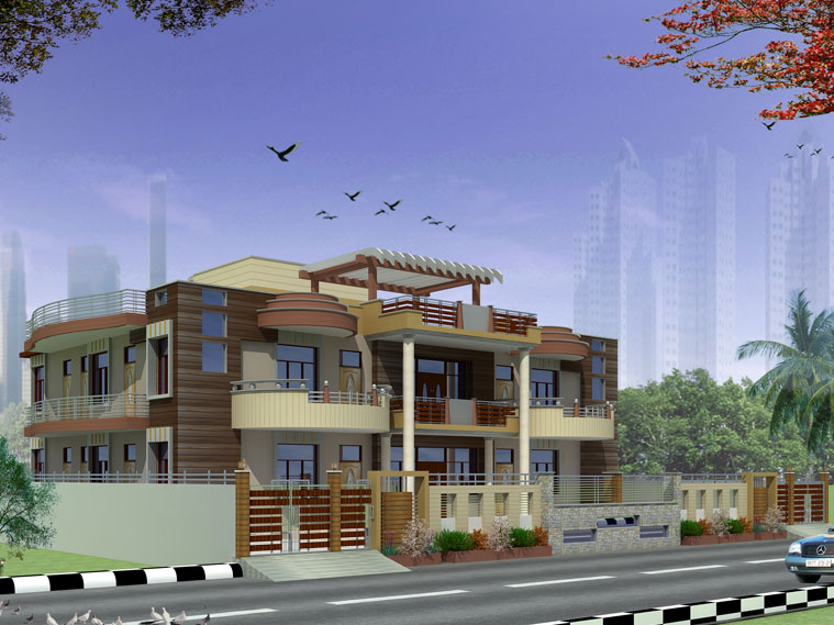 Raj p rawat and associates noida architects interior for Architecture design for home in noida